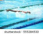 blurry background of splash... | Shutterstock . vector #555284533