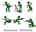 vector illustration of a six... | Shutterstock .eps vector #555292963