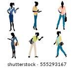 vector illustration of a six... | Shutterstock .eps vector #555293167