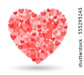 valentine day heart shape from... | Shutterstock .eps vector #555295243