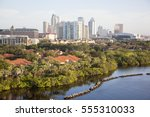 morning view of tampa city... | Shutterstock . vector #555310033