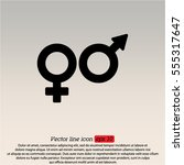 web line icon. gender symbol ... | Shutterstock .eps vector #555317647