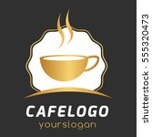 cafe coffee simple logo type... | Shutterstock .eps vector #555320473