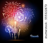 vector holiday firework.... | Shutterstock .eps vector #555322873