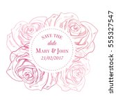 save the date card. vector... | Shutterstock .eps vector #555327547