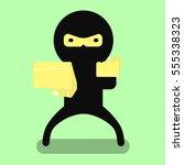 ninja flat simple object eps10   Shutterstock .eps vector #555338323
