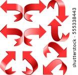 set of arrows. global colors...   Shutterstock .eps vector #555338443