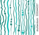 vector sketch pattern turquoise ... | Shutterstock .eps vector #555344557
