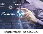 business  technology  internet... | Shutterstock . vector #555352927