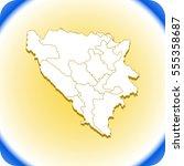 map of bosnia and herzegovina | Shutterstock .eps vector #555358687
