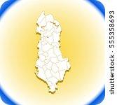 map of albania | Shutterstock .eps vector #555358693