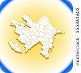 map of azerbaijan | Shutterstock .eps vector #555361603
