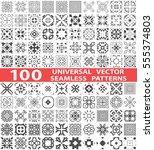 100 universal different vector...