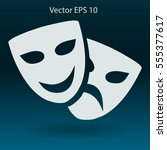 theatrical masks laughter and... | Shutterstock .eps vector #555377617