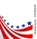 usa flag in style vector | Shutterstock .eps vector #55538149