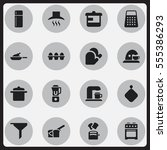 set of 16 editable food icons....
