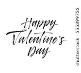 happy valentine's day postcard. ... | Shutterstock .eps vector #555399733