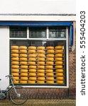 Window Of A Dutch Cheese Shop...