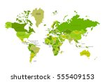 political map of the world.... | Shutterstock .eps vector #555409153