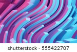 abstract lines. flow background.... | Shutterstock .eps vector #555422707