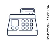 cash register icon | Shutterstock .eps vector #555443707