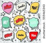 hand drawn of speech comic... | Shutterstock .eps vector #555465343