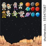 astronaunts and different...   Shutterstock .eps vector #555475387
