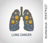 lung cancer vector logo icon... | Shutterstock .eps vector #555479227