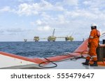 marine crew complete wearing... | Shutterstock . vector #555479647