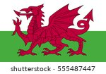wales flag | Shutterstock .eps vector #555487447