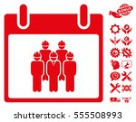 staff calendar day icon with... | Shutterstock .eps vector #555508993