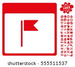 flag calendar page pictograph... | Shutterstock .eps vector #555511537