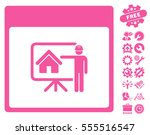 realty developer calendar page... | Shutterstock .eps vector #555516547