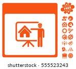 realty developer calendar page... | Shutterstock .eps vector #555523243