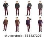 casual clothing concept   same... | Shutterstock . vector #555527203