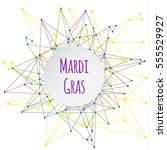 mardi gras background with... | Shutterstock .eps vector #555529927