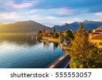 maccagno on lake maggiore ... | Shutterstock . vector #555553057