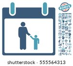 father calendar day icon with... | Shutterstock .eps vector #555564313