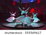 whirling dervishes and... | Shutterstock . vector #555569617