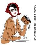 vector illustration. fashion... | Shutterstock .eps vector #555570997