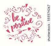 vector lettering design element ... | Shutterstock .eps vector #555574267