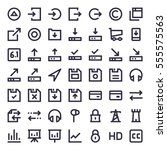 line essential icons 54 | Shutterstock .eps vector #555575563