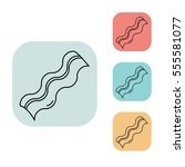 bacon icon  outline thin line...