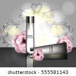 face skincare premium ad design ... | Shutterstock .eps vector #555581143