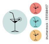 cocktail icon isolated vector...