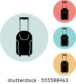 baggage icon isolated vector...