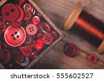 a close up of a box of red... | Shutterstock . vector #555602527