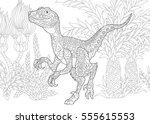 Stylized Velociraptor Dinosaur...