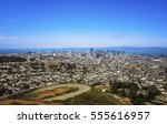 panoramic view of san francisco ... | Shutterstock . vector #555616957