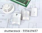 alarm system home | Shutterstock . vector #555619657